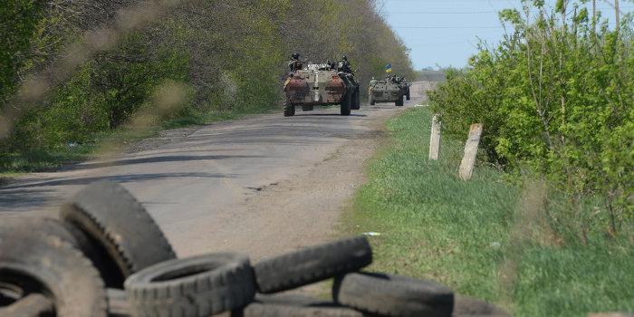 Каратели вынуждены бежать из Дебальцево