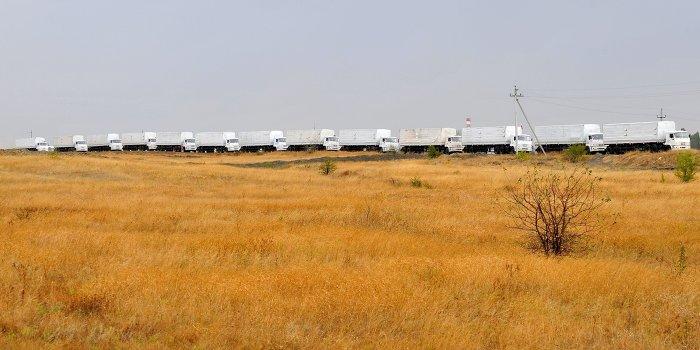 Второй гуманитарный конвой прибыл в Луганск
