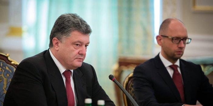 Между Порошенко и Яценюком идет открытая война