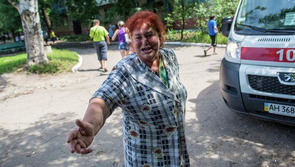 В Славянске пропаганда единой Украины ведется из БТРа
