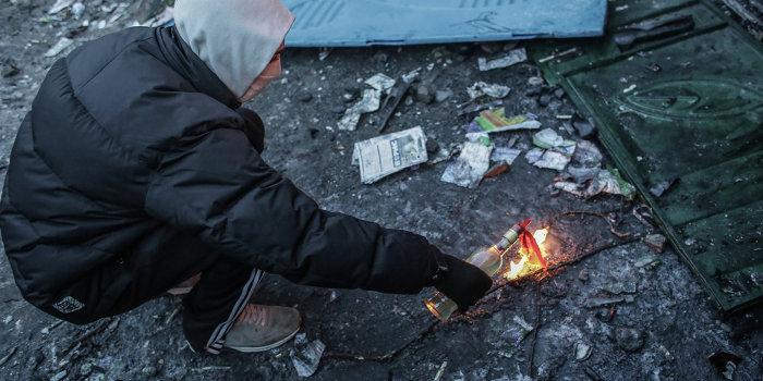 Запорожские партизаны атаковали «черную бухгалтерию» местного майдана