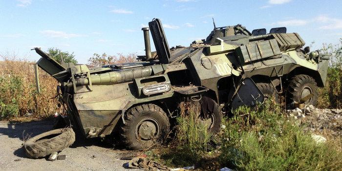 Одесские подпольщики уничтожили украинский БТР