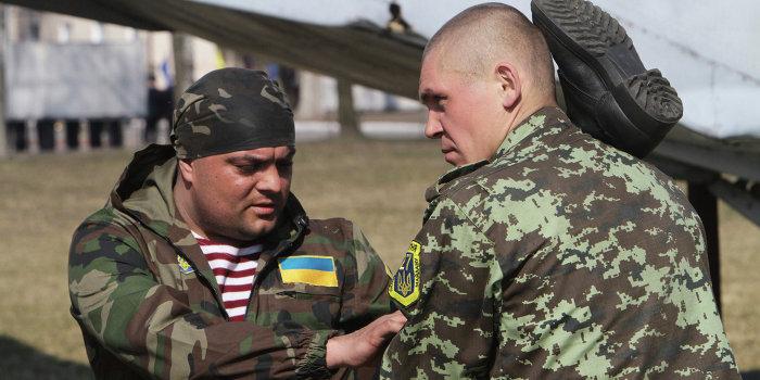 Тернопольские партизаны проходят курсы боевой подготовки
