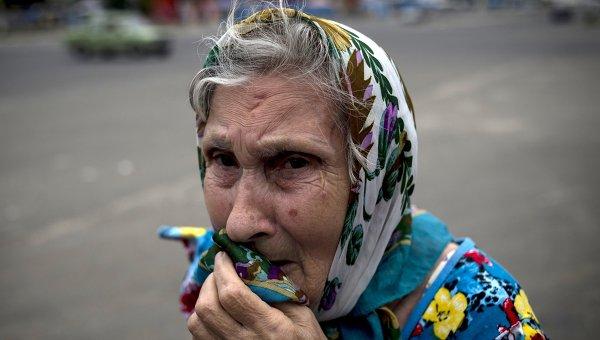 Гуманитарная помощь Киева Донбассу - каски, бронежилеты и прицелы