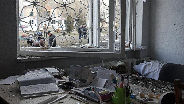В Донецке обстреляли микрорайон Текстильщик