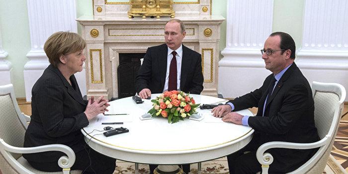 Меркель, Олланд и Путин договорились созвониться