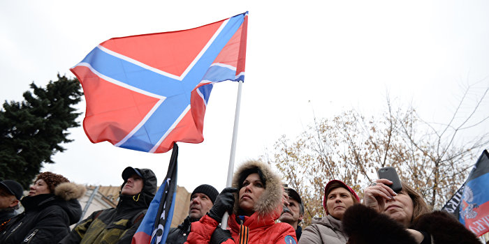 В Дебальцево ополченцы подняли флаг Новороссии
