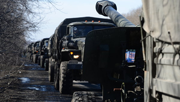 Басурин: ДНР и ЛНР отвели более 30 единиц тяжелого вооружения