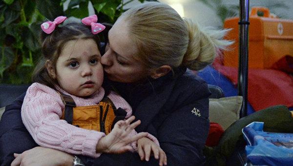 Павел Астахов встретил во Внуково тяжелобольных детей из ДНР и ЛНР