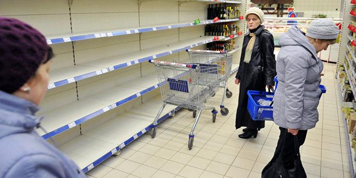 Продуктовая паника во Львове