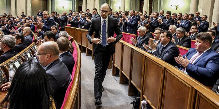 В Верховной Раде требуют отставки Яценюка