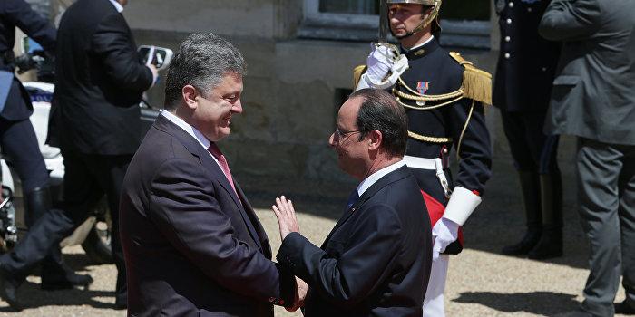 Олланд обсудит с Порошенко ситуацию в Донбассе