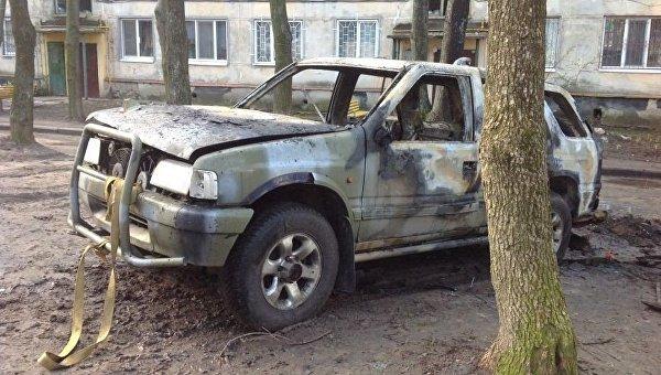В Харькове взорвали машину украинского военного