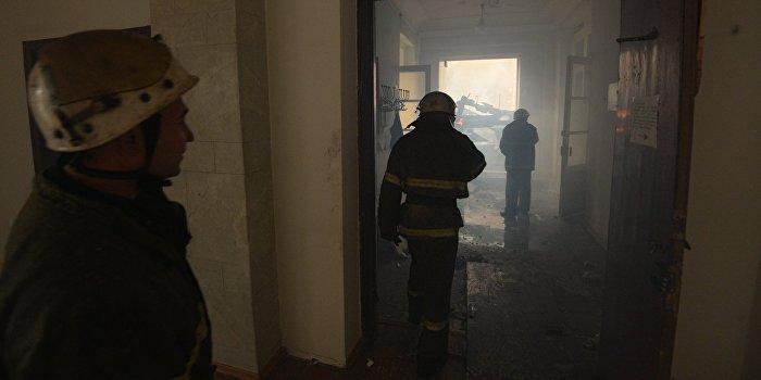 Во Львове подожгли отделение милиции