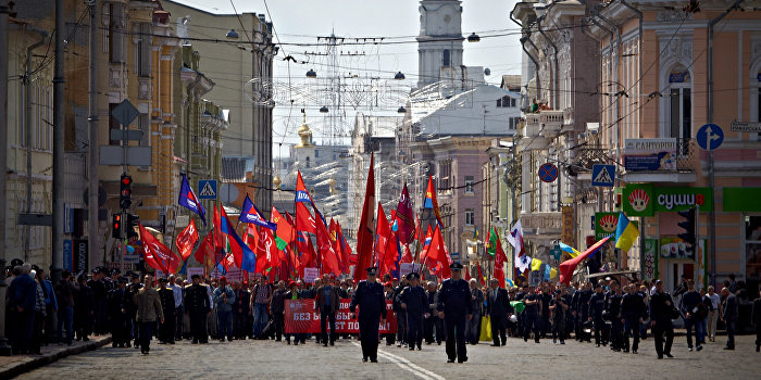 В Харькове украинские националисты напали на пенсионеров