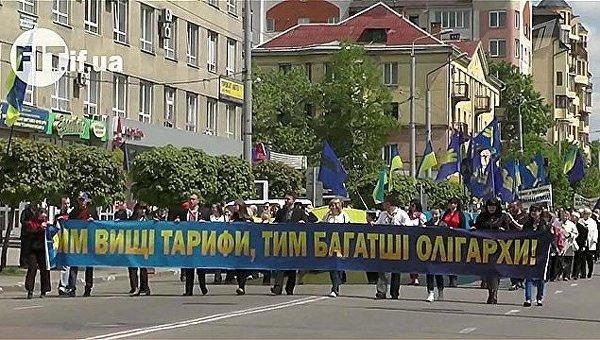 Запад Украины недоволен повышением тарифов ЖКХ