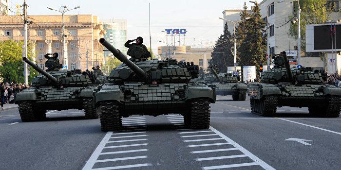 Начался первый Парад Победы в Донецке