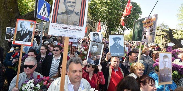 В День Победы тысячи одесситов скандируют «Вон из Одессы, бандеровские бесы!»