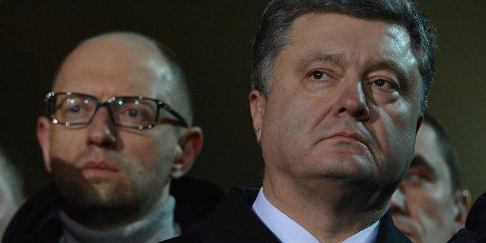 Блинов: Конфликт Порошенко и Яценюка приведет к полному демонтажу всей системы