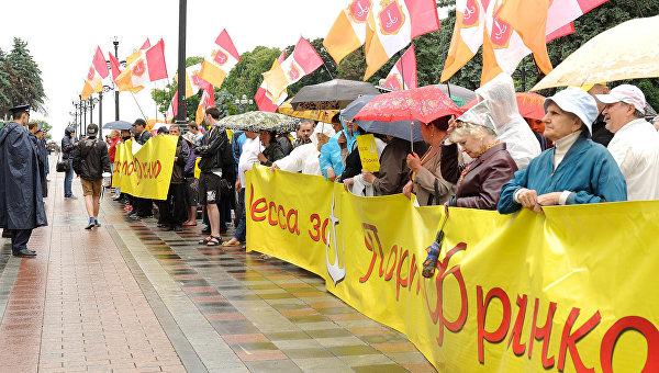 Под Верховной Радой митингующие требовали предоставить Одессе статус «порто-франко»