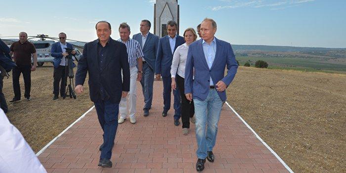 Путин встретился с Берлускони в Крыму