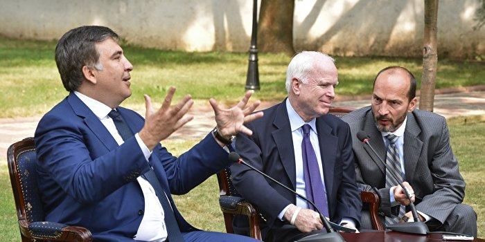 Маккейн не выдержал конкуренции с собакой на встрече с Саакашвили