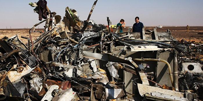 Спутник зафиксировал взрыв на борту А321 за миг до падения