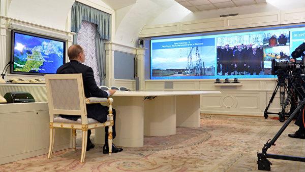Путин запустил вторую нитку энергомоста в Крым