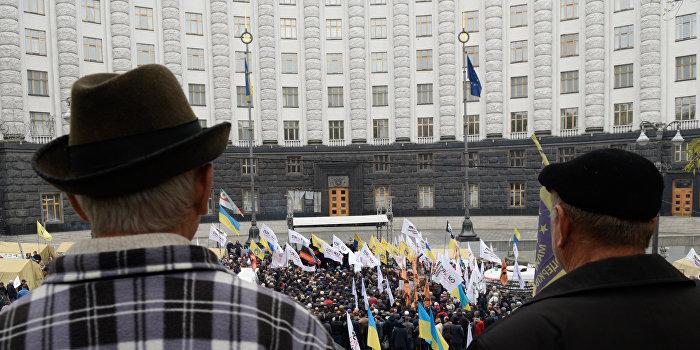 Акция протеста против евроинтеграции прошла в Киеве