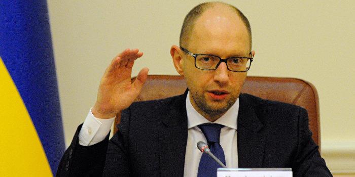 Яценюк торжественно пообещал игнорировать обязательства перед Россией