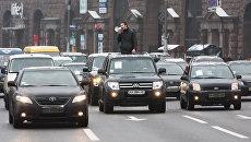 Таксисты устроили майдан на Крещатике