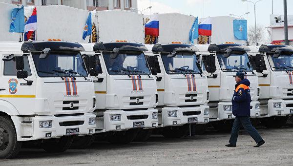 Юбилейный гумконвой МЧС везет в Донбасс семена и детское питание