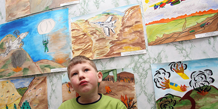 Дети Донбасса рисуют и мир, и войну