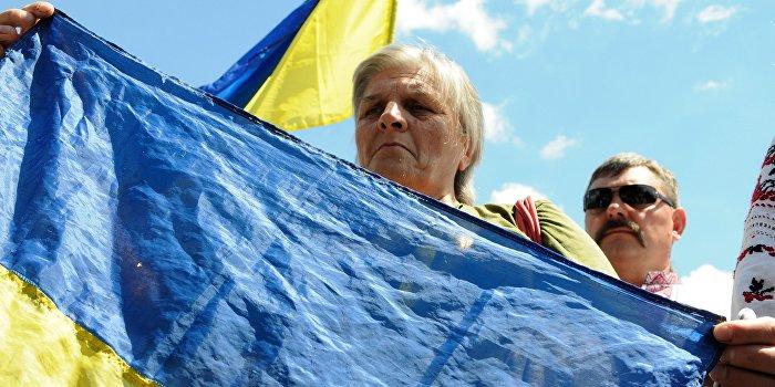 Зам Саакашвили надругался над украинским флагом