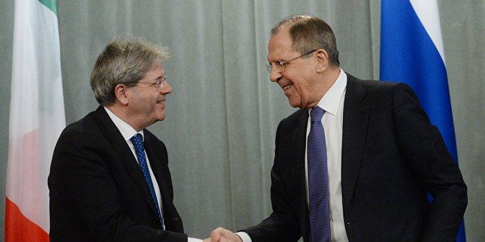МИД Италии выступает за снятие санкций с РФ
