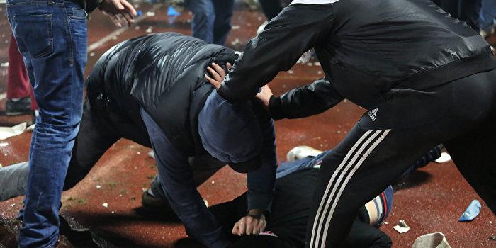 Немецкие фанаты атаковали украинских болельщиков