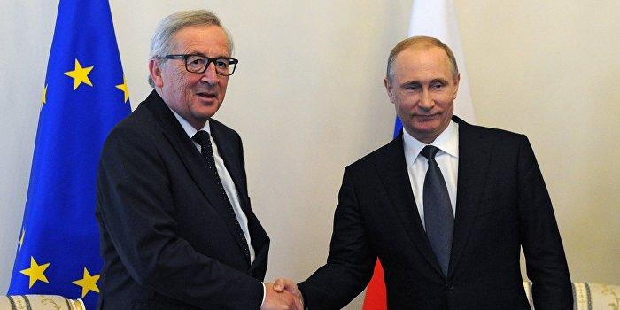 Путин и Юнкер обошли стороной тему санкций