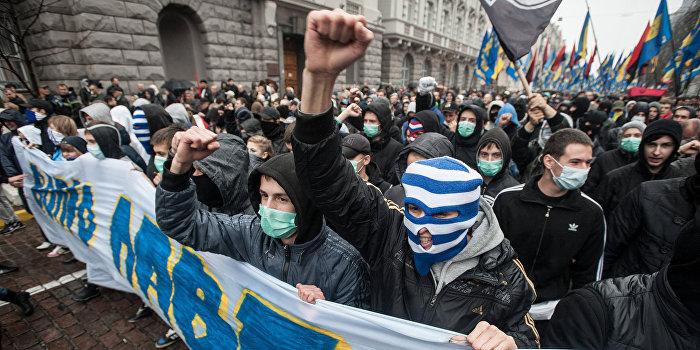 Украинские националисты в обозах немецкой армии