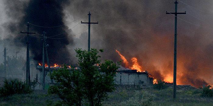 На военном полигоне под Черниговом вспыхнул пожар