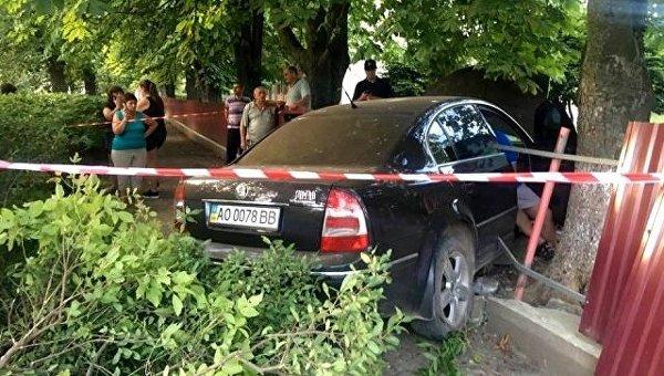 Пьяный гаишник протаранил детский сад в Ужгороде