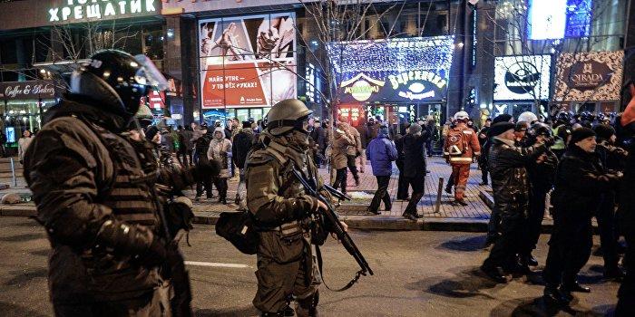 Автоматчики Нацгвардии взяли под контроль центр Киева