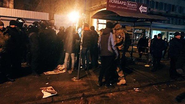 Во время разгрома МАФов в Киеве продавщице сломали руку