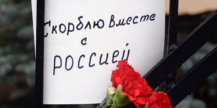 Одесский «Правый Сектор» уничтожил цветы, оставленные в память погибших в катастрофе Ту-154