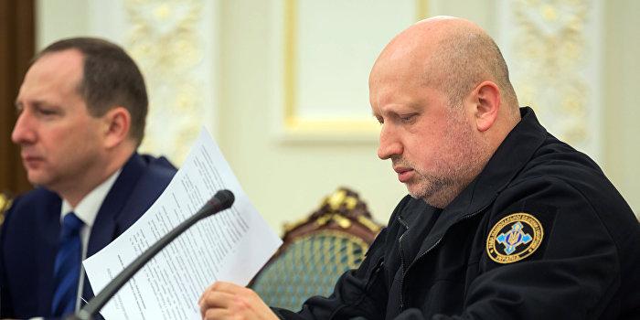 Турчинов объявил о полной блокаде ЛНР и ДНР