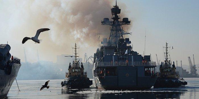 Российские военные корабли идут к берегам Сирии