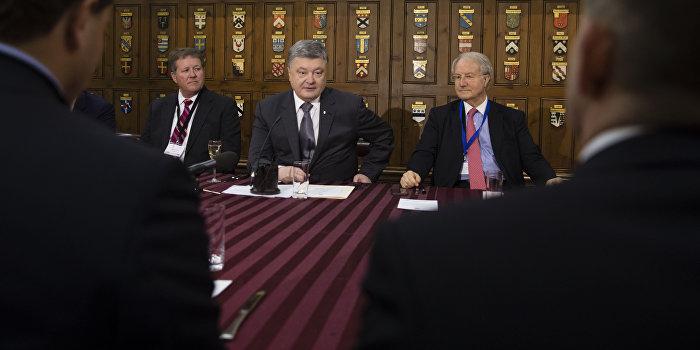 Порошенко призвал Британию упростить визовый режим с Украиной