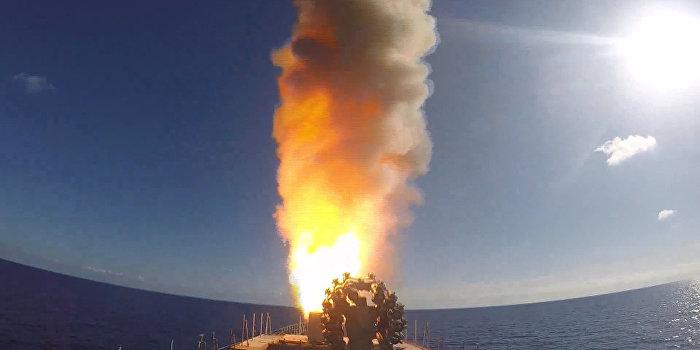 Опубликовано видео удара ВМФ России по боевикам в Сирии