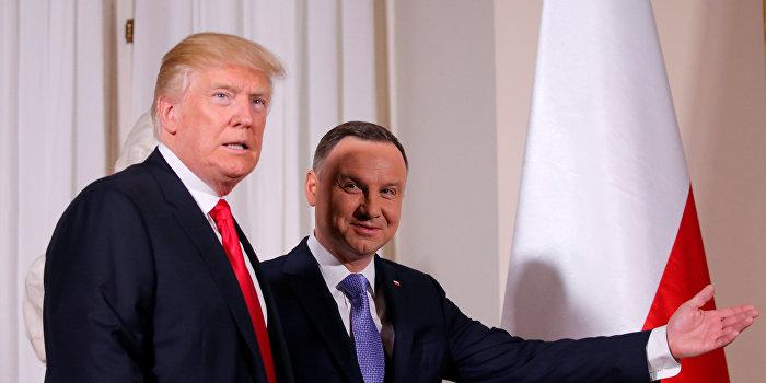 Трамп и Дуда обсудили газовые контракты и затронули кризис на Украине