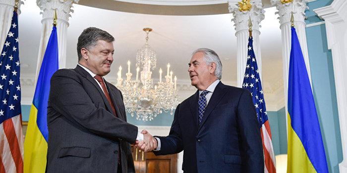 После переговоров с Порошенко Тиллерсон заявил об отсутствии прогресса по Минским соглашениям