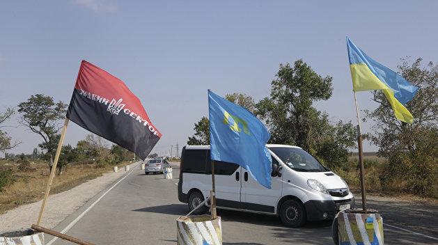 «Айдар» и «Аскер» сорвали работу представительства Порошенко для крымчан в Херсоне